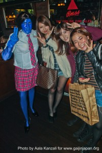halloween in japan -  blue akb 48 japanese girls