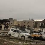 kamaishi, iwate, tohoku, japan - volunteer fro tsunami - destroyed cars