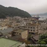 kamaishi, iwate, tohoku, japan - volunteer fro tsunami - hill view