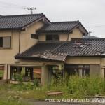 kamaishi, iwate, tohoku, japan - volunteer fro tsunami - houses