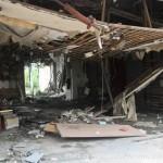 kamaishi, iwate, tohoku, japan - volunteer fro tsunami - inside building