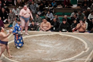 sumo tournament ryogoku tokyo japan salt 300x200 Le Sumo au Japon : un sport de combat traditionnel