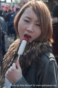 kanamara matsuri festival, iron penis festival, japanese girl suck penis lolipop