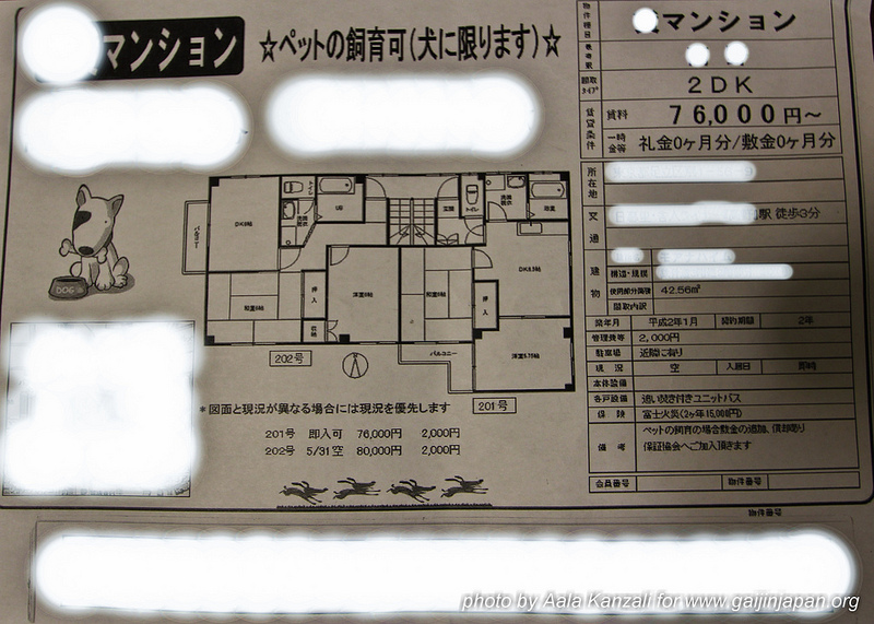 louer un logement au Japon - 2DK