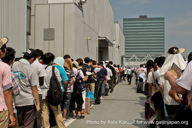 comiket tokyo big sight - file d'attente