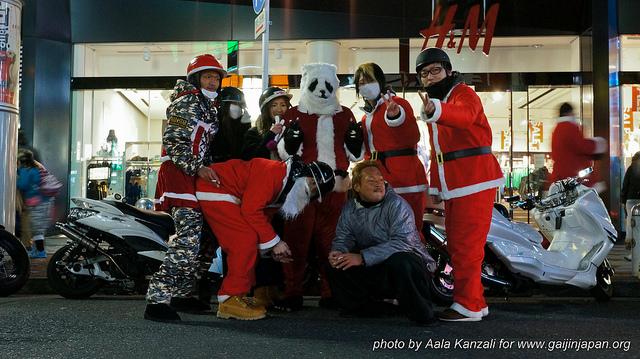 Noël à Tokyo - Papa Noël panda avec Motards de Noël