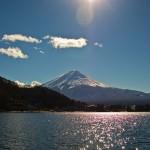 Mont Fuji - Kawaguchiko - au-dessus de l'eau profil