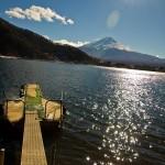 Mont Fuji - Kawaguchiko - ponton vert