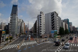 Tokyo - Yokohama à pieds - vue sur rue Tokyo