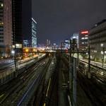 Yamanote Walk 8 février 2014 - ligne de train de nuit