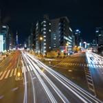 Yamanote Walk 8 février 2014 - route lumières de nuit tokyo