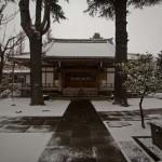 Yamanote Walk 8 février 2014 - temple sous la neige