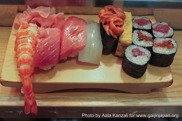 budget de repas et alimentation pour un voyage au Japon sushi