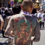 Sanja Matsuri Asakusa Tokyo - tatouage yakuza de dos