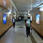 Tokyo Fukushima à pied - marcher dans le tunnel