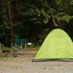 camping en bord de lac Saiko Mont Fuji - notre tente