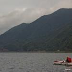 camping en bord de lac Saiko Mont Fuji -  sur l'eau