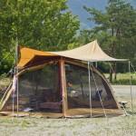 camping en bord de lac Saiko Mont Fuji -  tente maison