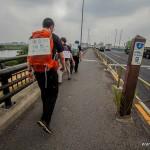 tokyo fukushima à pied -  borne 9km