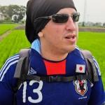 tokyo fukushima à pied - mode lunette de soleil