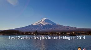 Les 12 articles les plus lus sur le blog en 2014