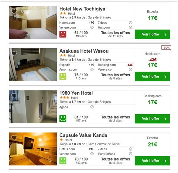 Comparatif tokyo new york lequel est le moins cher un for Comparatif hotel pas cher