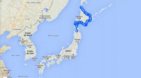 Cap 10.000 Japon, l'itinéraire