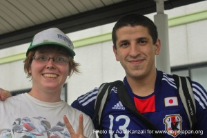 kamaishi, iwate, tohoku, japan - volunteer fro tsunami - anna & aala