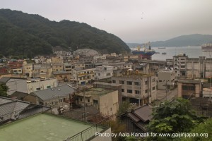 kamaishi, iwate, tohoku, japan - volunteer fro tsunami - hill view