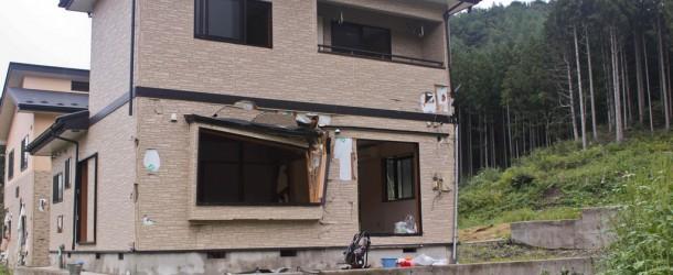 Kamaishi, Iwate, Tohoku : Une maison détruite par le Tsunami