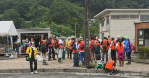 kamaishi, iwate, tohoku, japan - volunteer fro tsunami - volunteers, volontaires