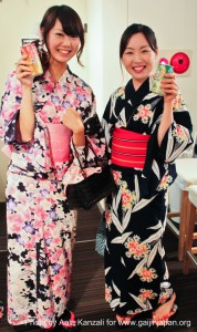 leafcup yukata international party july 25 2011 - sayaka & chisaki