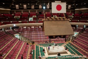 sumo tournament - ryogoku - tokyo - japan - ring