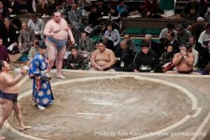 sumo tournament - ryogoku - tokyo - japan - salt, jeté de sel