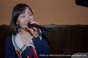 Karaoke japanese singer, chanteuse de karaoké japonaise