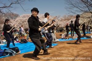 sakura hanami at yoyogi koen tokyo japan april 7 2012 - sport