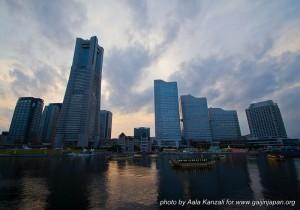 yokohama safari -david michaud - 25 mai 2013 - Japon - Yokohama vue sur les buildings avec yakatabune