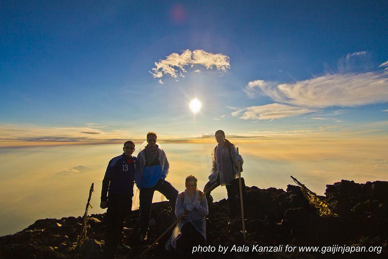 Mont Fuji ascension - au top