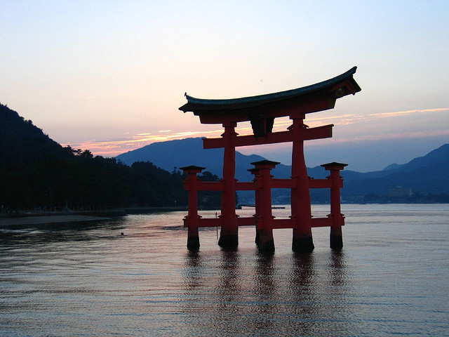 Miyajima Torii - photo par Franck sur Flickr