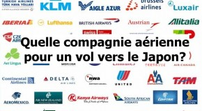 Quelle compagnie aérienne pour aller vers le Japon ?