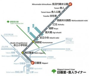 Tokyo les transports en commun - Nippori Toneri Liner