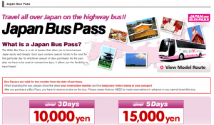 prendre le bus de nuit au Japon avec Willer Express Japan Bus Pass
