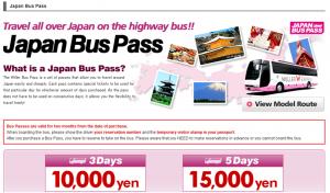 prendre le bus de nuit au Japon avec Willer Express Japan Bus Pass