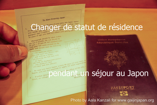 Changer de statut de résidence de visa pendant un séjour au